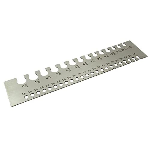 Outlet ajanta stainless steel wire gauge measuring scale 0 to 36 outlet ajanta stainless steel wire gauge measuring scale 0 to 36 standard metric sizes keyboard keysfo Images
