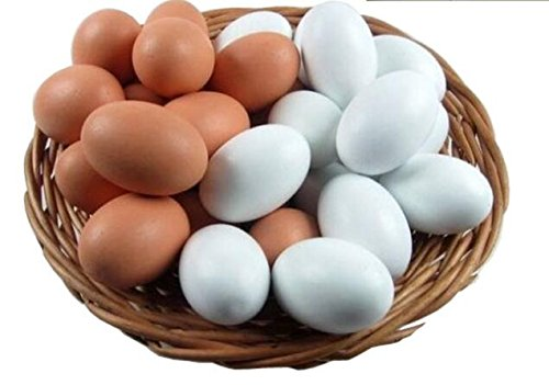 ake Eggs 9 Pieces 2 Colors ()