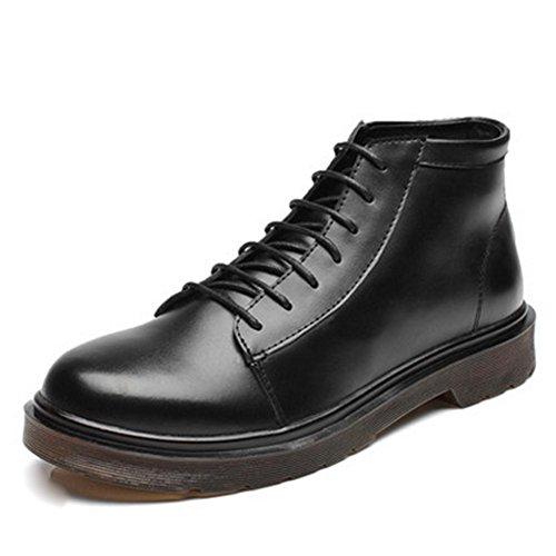 Stivali cotone da di tendenza uomo alta invernali black antiscivolo in con fodera qa1BHrq