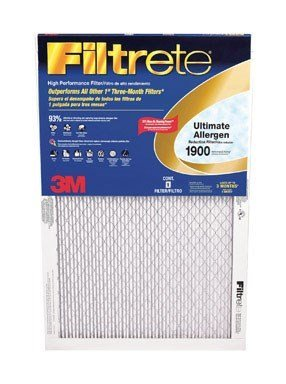 16x25x1, Ultimate Allergen Furnace Filter Air Filter, MERV 11, by 3m