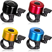 4PCS Bike Bell Bicycle Bell, 4 Colors Aluminum Alloy Cycling Bell Road Mountain Bike Ring Bell with Crisp Loud