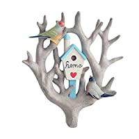super1798 3D Parrot Clothes Scarf Towel Hooks Hanger Organizer Home Wall Living Room Ornament Yard Garden Decor