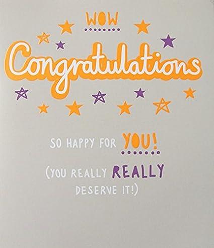 Tarjeta de felicitaciones (PLK8256) Wow Felicidades feliz ...
