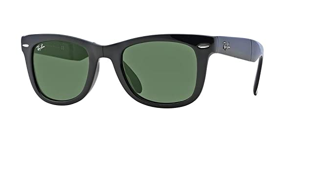Ray-Ban RB4105 FOLDING WAYFARER 601 50M Black Green Crystal Sunglasses For  Men For 74a61904706f4