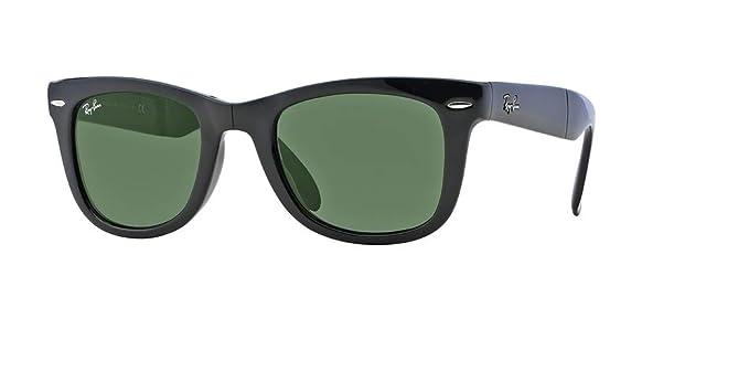 ce6701a72f Ray-Ban RB4105 FOLDING WAYFARER 601 50M Black Green Crystal Sunglasses For  Men For