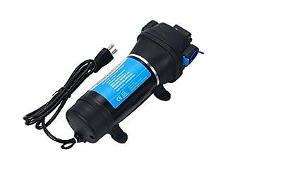 Amarine Made AC 110V Self Priming Water Pressure Diaphragm Pump 17LPM/4.5GPM AMPS:1.0A,MAX.AMPS:1.8A Press Setting:40PSI/2.8bar Caravan/RV/Boat/Marine