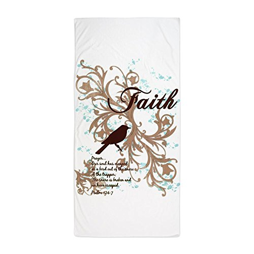 Beach Towel Faith Prayer Dove Christian Cross by Royal Lion