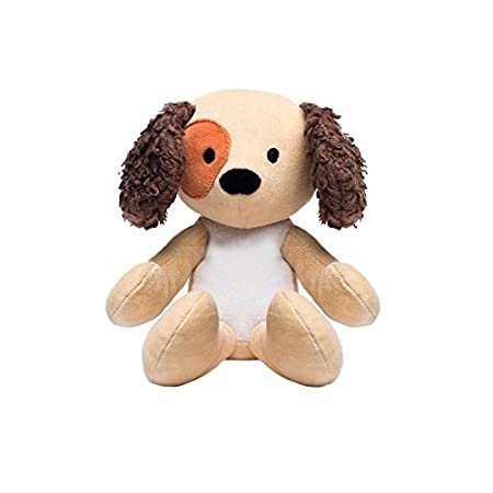 Bears for Humanity Organic Puppy Animal Pals Plush Toy, Brown, 12