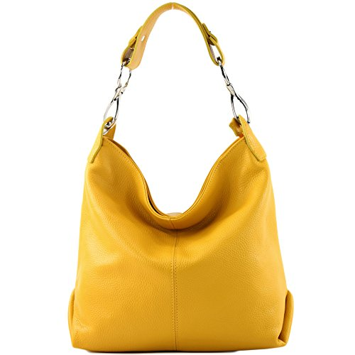 bag Leather T168 modamoda Yellow Ladies bag Leather bag ital de bag Shoulder Shoulder wqxf4Utq