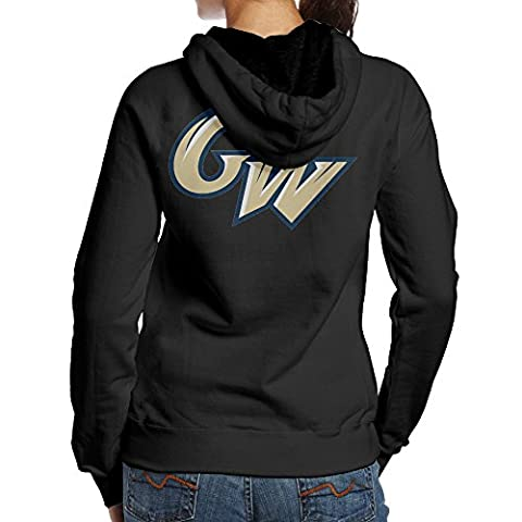 Kystal George GW Logo Washington University Women's BlackPrint Hooded Size L Black (Peppa Pig George Boots)