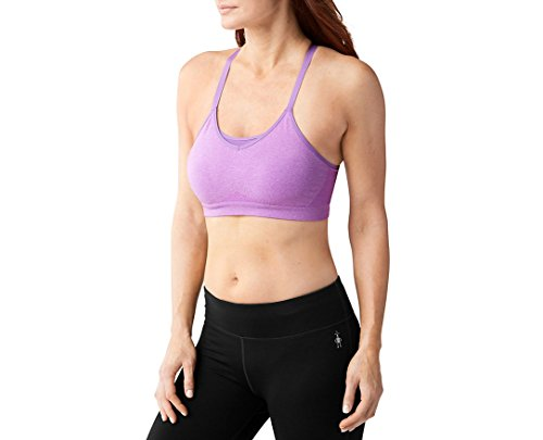 - SmartWool Women's PhD Seamless Strappy Bra (Lilac Heather) X-Large