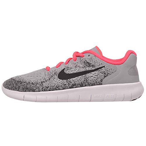 Nike Free RN 2017 GS Running Trainers 904258 Sneakers Shoes (UK 4.5 us 5Y EU 37.5, Wolf Grey Black Racer Pink 001) ()