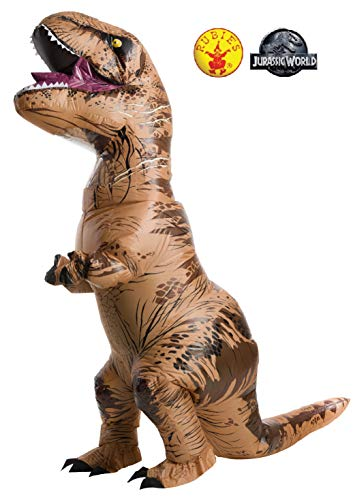 5 Person Group Costume (Rubie's Adult Official Jurassic World Inflatable Dinosaur Costume, T-Rex,)