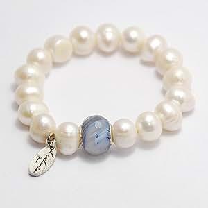 Il ciclamino - Pulsera firma, composicion perla natural