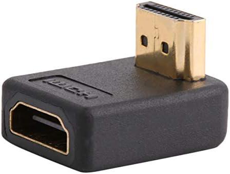 QinKingstore 90度HDMIオス-メスポートアダプター直角拡張コンバーターサポート高速伝送速度