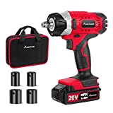 20V MAX Cordless Impact Wrench with 1/2' Chuck, Max Torque 2213 in-lbs, 4Pcs Driver Impact Sockets, Tool Bag and 1.5A Li-ion Battery, Avid Power MCIW326