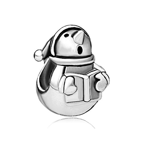 Q&Locket Sterling Silver Snowman Reading Book Charm For (Sterling Silver Snowman)