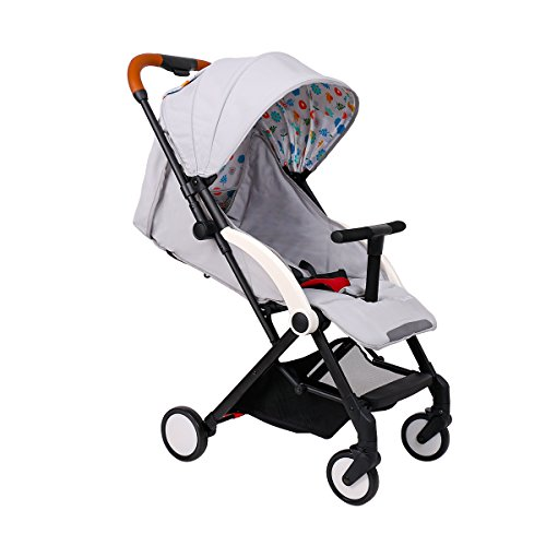 Baby Stroller Light Weight Stroller Portable Stroller (Light Grey)