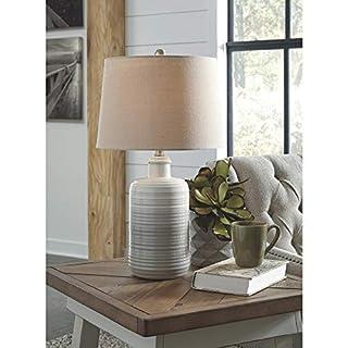 Ashley Furniture Signature Design - Marnina Ceramic Table Lamp - Set of Two - Taupe