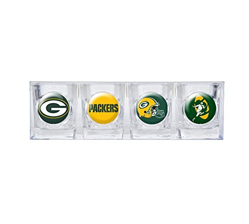 Green Bay Packers 4pc Collector's Shot Glass Set