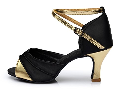 women's mouth shoes style with gold 7cm ShangYi shoes Ladies dance adult Latin Latin height dancing with black Fish shoes dance ZZxvXwP