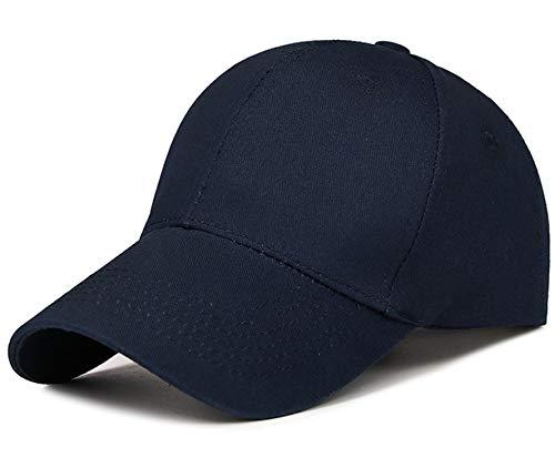 Fashion Adjustable hat Solid Color high-end Baseball Cap, Unisex Visor Golf Cap,Deep Blue,Adjustable,>8Y -