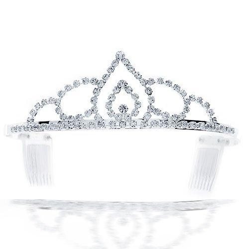 UPC 640626697637, Bling Jewelry Arabian Cathedral Rhinestone Princess Crown Tiara Silver Plated