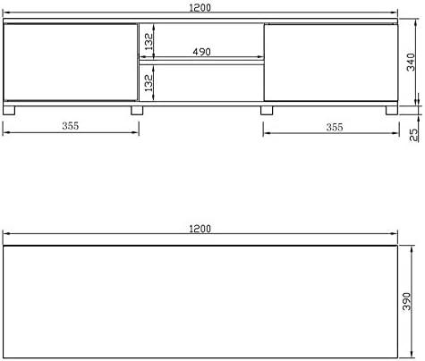 Mueble para televisores de entre 32 y 55 pulgadas, con armarios ...