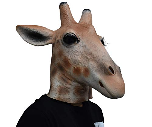 Realistic Giraffe Mask Latex Mask Animal Head Halloween Costume Party Disguise Cosplay -