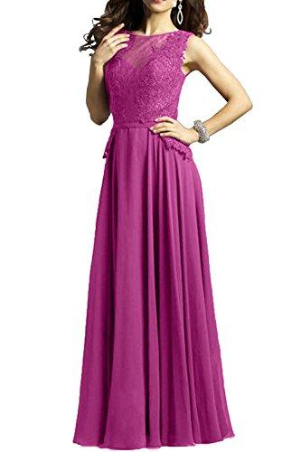 Partykleider Lang Damen Brautmutterkleider Braut Pink Spitze Linie Promkleider La A Rock Glamour mia Chiffon q0wCg7x