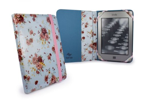 Tuff-Luv Slim Book-Style fabric case cover for Amazon Kindle 4 / Touch / Paperwhite / 6