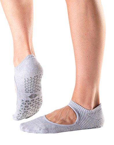 Tavi Noir Chey Mary Jane Organic Knit Non-Slip Grip Socks (Tavi Amethyst) Medium