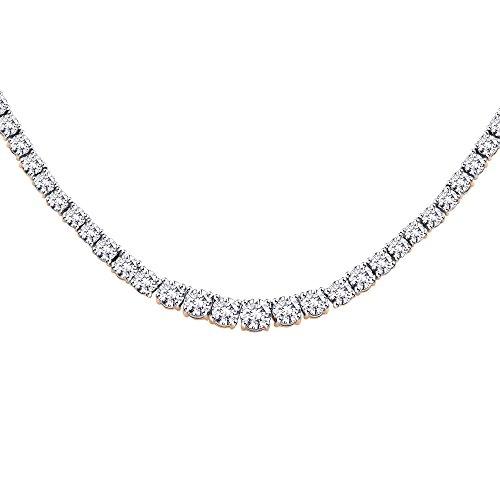 KATARINA 6 ct. Graduated Diamond Riviera Tennis Necklace in 10K Rose Gold (Color IJ, Clarity I1)