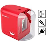 Electric Pencil Sharpener, Laneco USB, AC Adapter or Battery Operated Heavy Duty Helical Blade Pencil Sharpener with 3 Graphite Point Tip Modes, Auto Stop Feature, Great for Kids, Teachers and Office