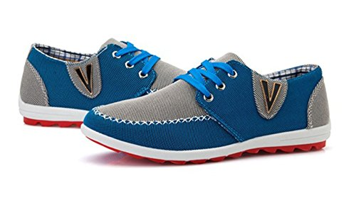 Estilo Británico Transpirable Para Hombre Zapatos De Ocio Gris