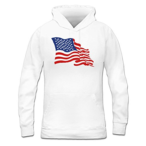 Sudadera con capucha de mujer Stars And Stripes by Shirtcity Blanco