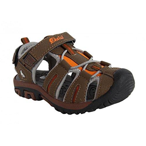 Sandales pour Garçon et Fille CHEIW 47102 MARRON-GRIS