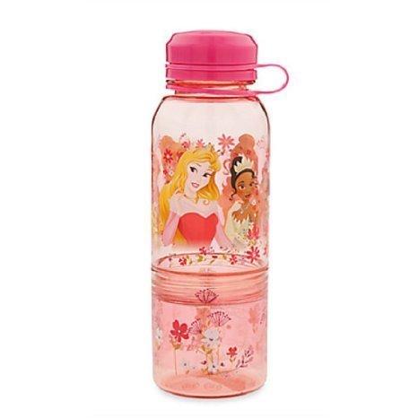 Disney Store Princess Plastic Snack Drink Water Bottle New 2016