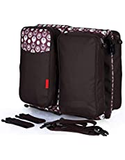 Doyle Essentials Baby Travel Bag and Bassinet - Portable Infant Bed, Changing Table or Bedside Crib with Mosquito Net, Stroller Strap - Traveling Diaper Bags for Babies - Best Baby Shower Gift - Brown …