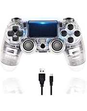 $31 » Controller for PS4 Wireless Playstation 4 Controller with Dual Vibration/Speaker/Gyro/Audio Jack Remote Controller Gamepad for PS4/Slim/Pro/(Transparent White)