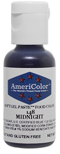 Americolor Soft Gel Paste Food Color, Midnight.75 Ounce Bottle