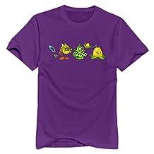 Plants Vs Zombies 2 Crop Plant Round Neck T-shirt For Mens Purple L Popular T Shirt