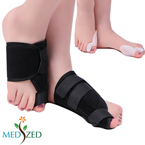 MEDIZED Quality Bunion Splint Pad Toe Hammer Separators Hallux Valgus Protector Bunion Corrector bunion Pads Toe Spacer Bunion Splint Straightener Bunion Bootie by MEDIZED (Image #9)