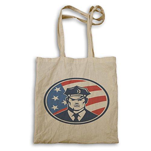 Polizist USA Amerika Kunst lustige Neuheit Tragetasche a626r