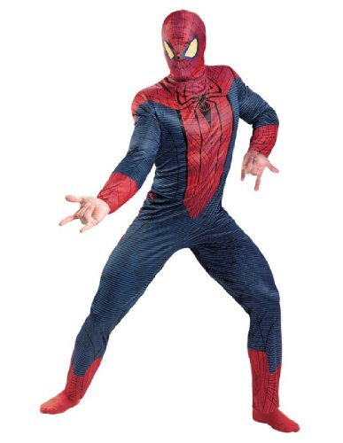 Disguise Marvel The Amazing Spider-Man 3D Movie Classic Adult Costume, Red/Blue, (Amazing Spider Man Costumes Adult)