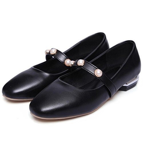 RAZAMAZA a Enfiler Femmes Escarpins Black a6wZq4B