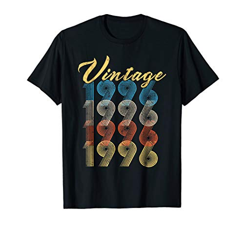 Vintage Made In 1996 Shirt 22nd Birthday Gift - 1996 Serigraph