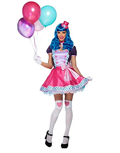Clown Costume - Pink-Lavender-Purple Large (Pink Clown Costume)