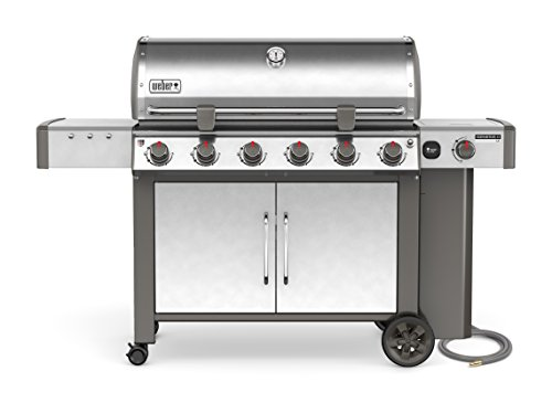 Weber-Stephen Products 68004001 Genesis II LX S-640 Natural Gas Grill, Stainless Steel, Six-Burner