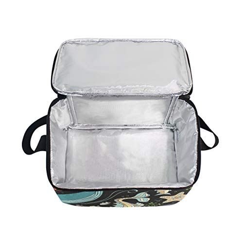 Picnic Dolphin Starfish Strap Lunch Shell Plants Cooler Urtle Shoulder for Jellyfish and Fish Lunchbox Bag URqqPwA